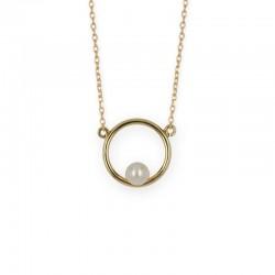 Halskette rund Perle