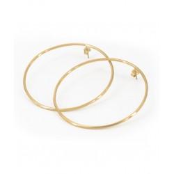 Closed hoop earrings