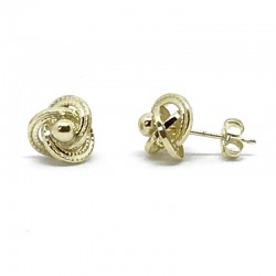 Gallon knot earring with ball