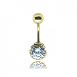 Navel piercing with round...