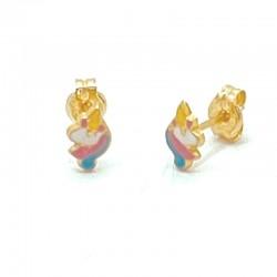 Unicorn enamel earrings