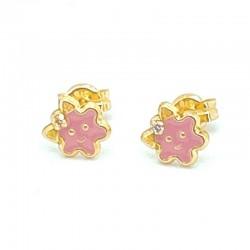 Enameled flower earrings...