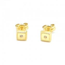 Quadratische Mini-Ohrringe