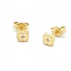 Mini flower earrings 4 petals