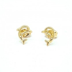 Openwork dolphin earrings